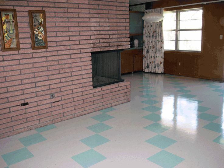 77 best images about vintage linoleum on pinterest for Modern linoleum flooring