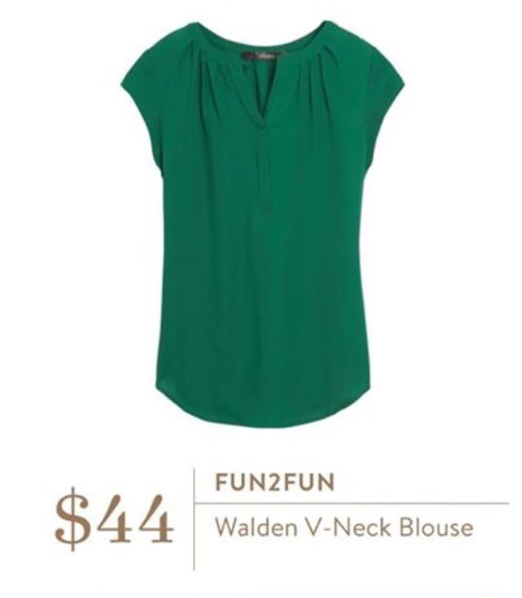 I already have this blouse in coral/grey pattern.  It fits so well I'd love another color.  This green is really pretty.