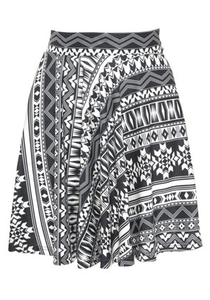 Limited Edition Aztec Skater Skirt - £12
