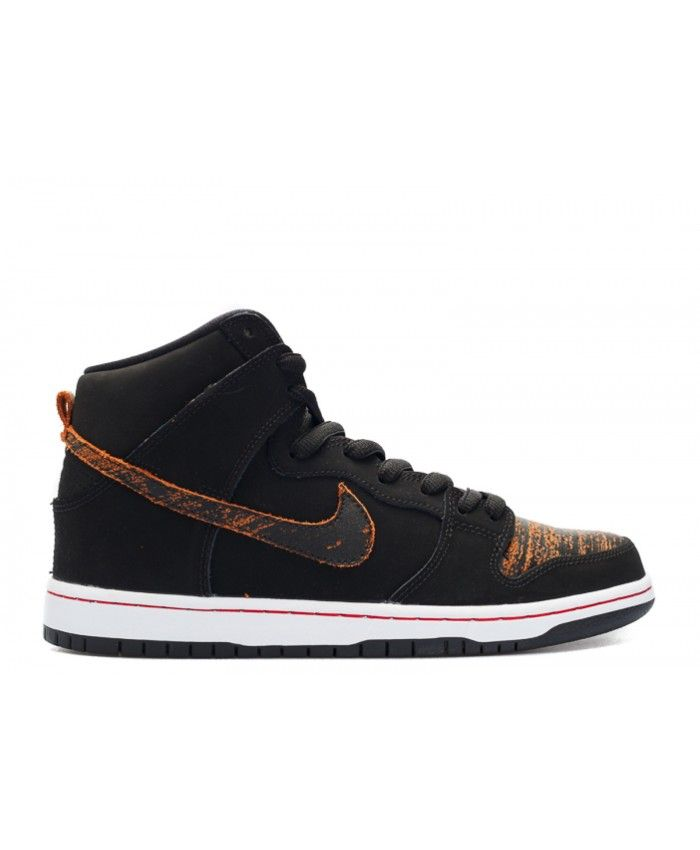 Dunk High Pro Sb Distressed Leather Black, University Red, Black 305050-026