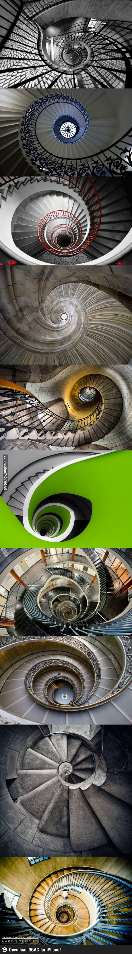 Awesome Spiral Stairs - http://www.funterest.fr/awesome-spiral-stairs.htm