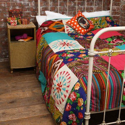 I love bright, funky quilts with a lot of color