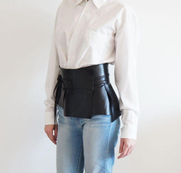 Купить Пояс кожаный Smart Style - широкий пояс, Широкий ремень, баска, пояс-корсет