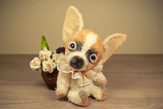 Artist chihuahua teddy chihuahua ooak puppy dog beige by Melochy