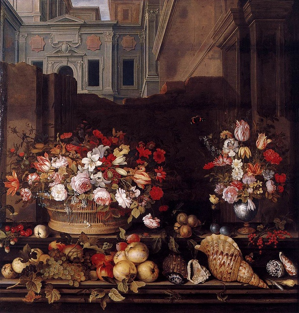 Balthasar van der Ast - 'Still Life with Flowers, Fruit and Shells'