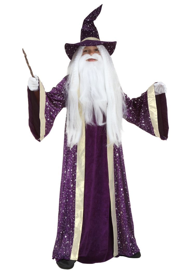 This exclusive wizard costume for kids will make your child look as though he possesses magical powers!