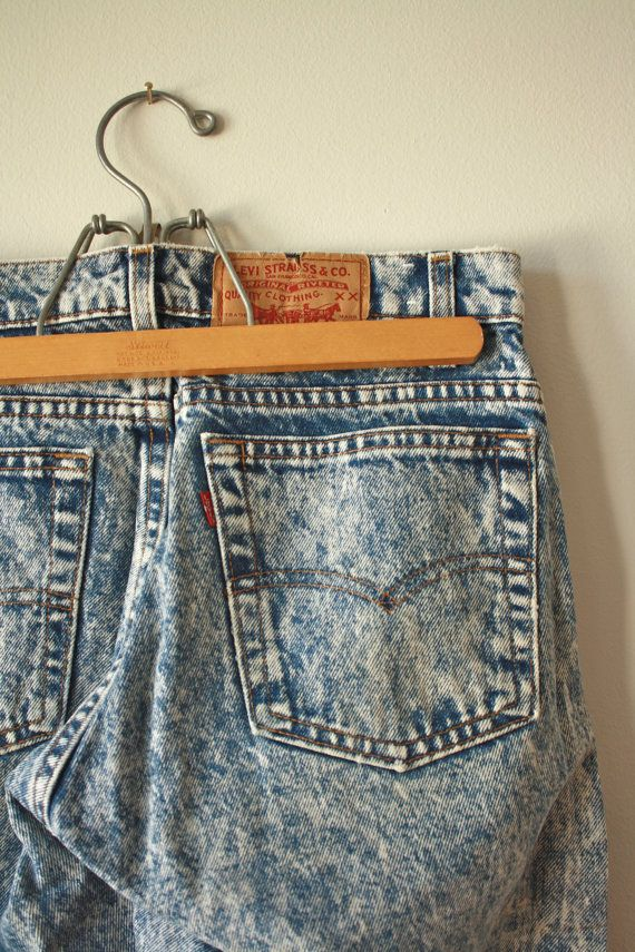 Levis 80s Acid Wash Jeans Mens  31  34 by flickaochpojke on Etsy, $75.00