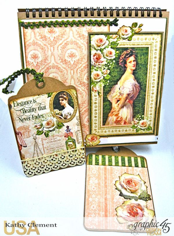 Beauty Easel Album, Portrait of a Lady, by Kathy Clement, Product by Graphic 45, Photo 12 jpg