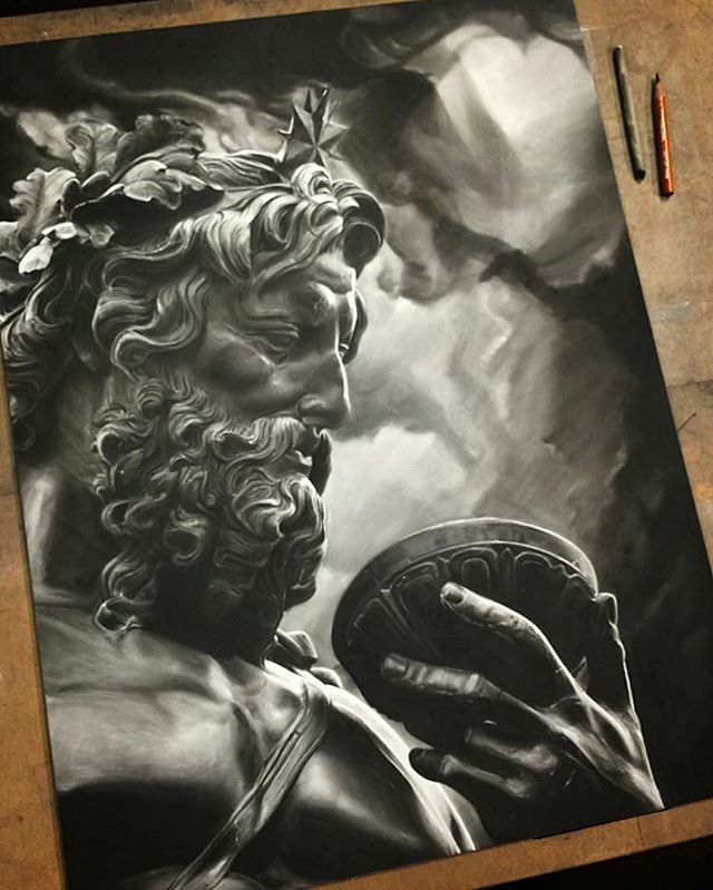 Amazing charcoal drawing by artist @ben.hersh #artinspires #artislife #artordie #theartisthemotive .