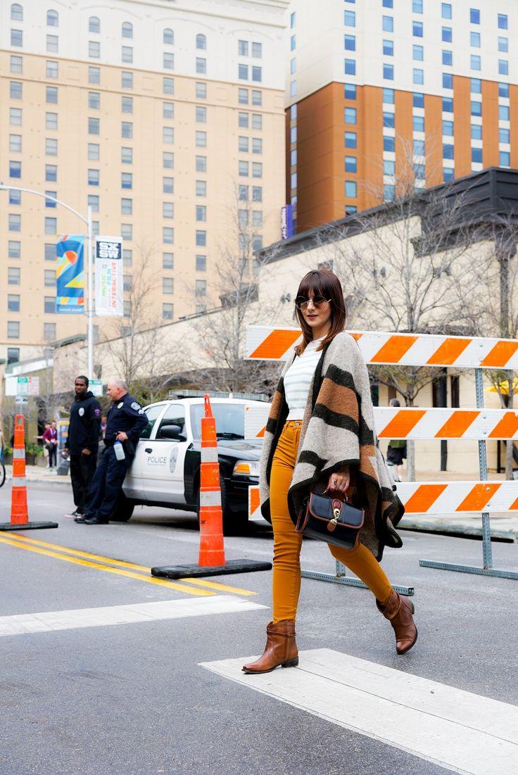 Primeiro dia em Austin: Poncho de lã e tons terrosos no SXSW | Danielle Noce