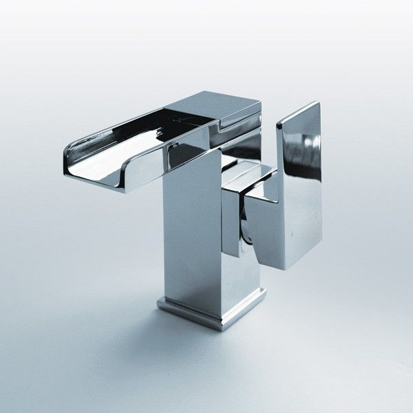 The Quadra  Waterfall Side Lever Basin Mixer Tap is a stylish waterfall tap  with easy to use lever handle  Perfect for any bathroom including en suites  View. 21 best Waterfall Taps images on Pinterest   Waterfall taps