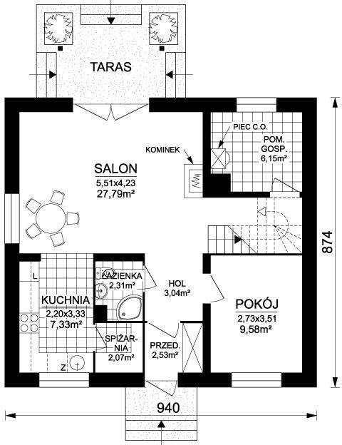 Projekt Domu Jednorodzinnego Świerk 1 - ArchDOM
