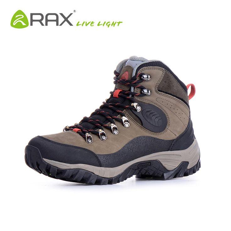 RAX V-TEX Waterproof Hiking Boots Men Leather Trekking Shoes For Men Warm Winter Outdoor Climbing Walking Boots Men Hiking Shoes