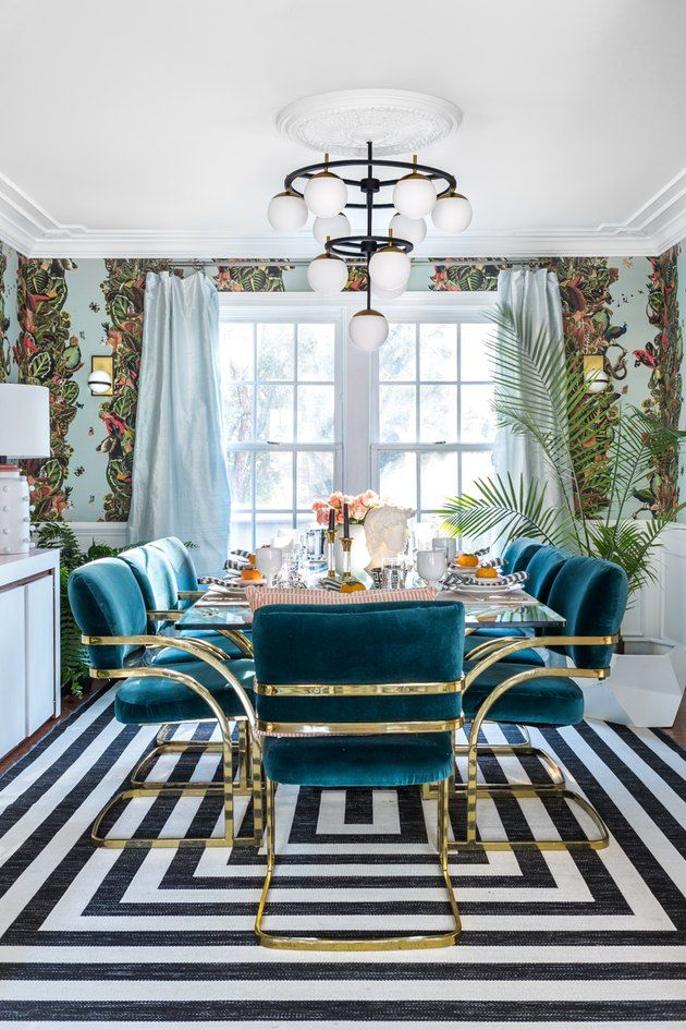 These Art Deco Dining Room Ideas Are For Fancy Dinner Parties Only Hunker Chic Dining Room Bohemian Dining Room Luxury Dining Room