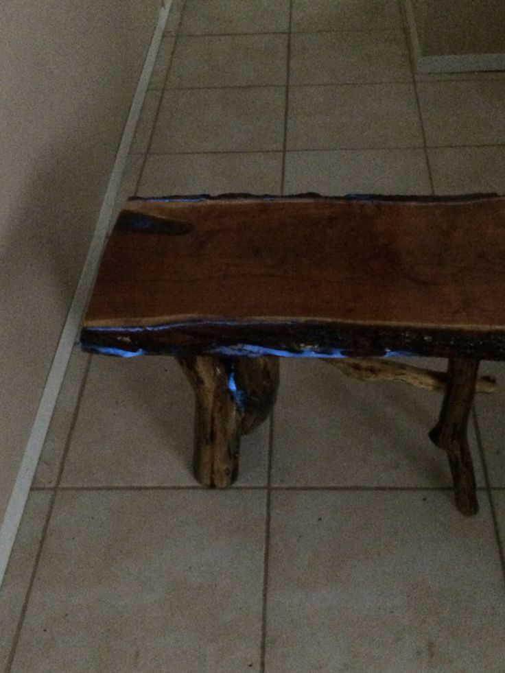 Coffee table with glow in the dark accents, table #2