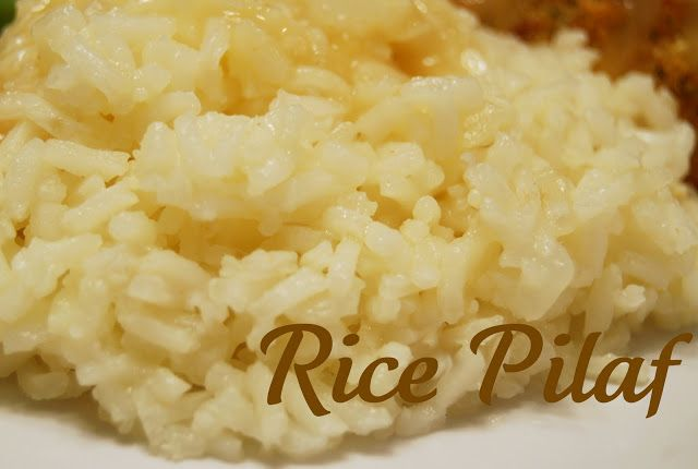 See Jane in the kitchen: Rice Pilaf. I make this ALL THE TIME! So easy & versatile. I use a half butter half oil, a whole Spanish onion (those small ones), a few cloves garlic, 2 c homemade chicken broth & add 2 T chicken bouillon. It's sooo good!  @Amber this is the rice I'm obsessed with :)