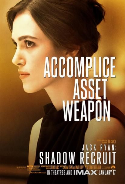 Keira Knightley Character Poster for Jack Ryan: Shadow Recruit - in theaters Jan. 17th, 2014