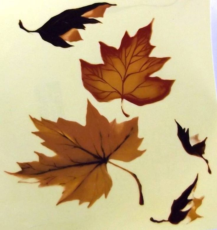 """#A26 Ceramic Waterslide Decals  2 MAPLE LEAVES  6"""" #Unbranded"""