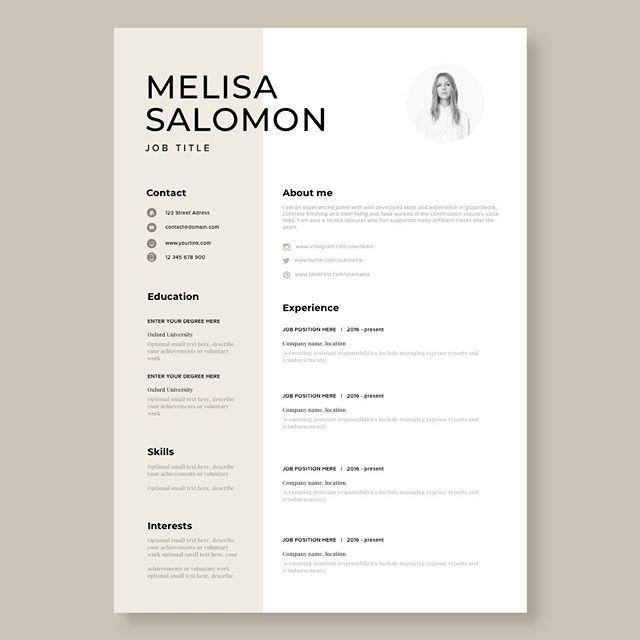 Resume Template Cv Template Resume Cv Design Teacher Etsy Resume Design Creative Creative Resume Templates Resume Template