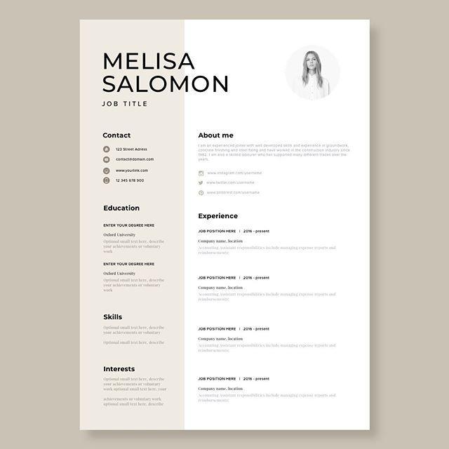 Resume Template Cv Template Resume Cv Design Teacher Etsy Resume Design Creative Creative Resume Templates Resume Template