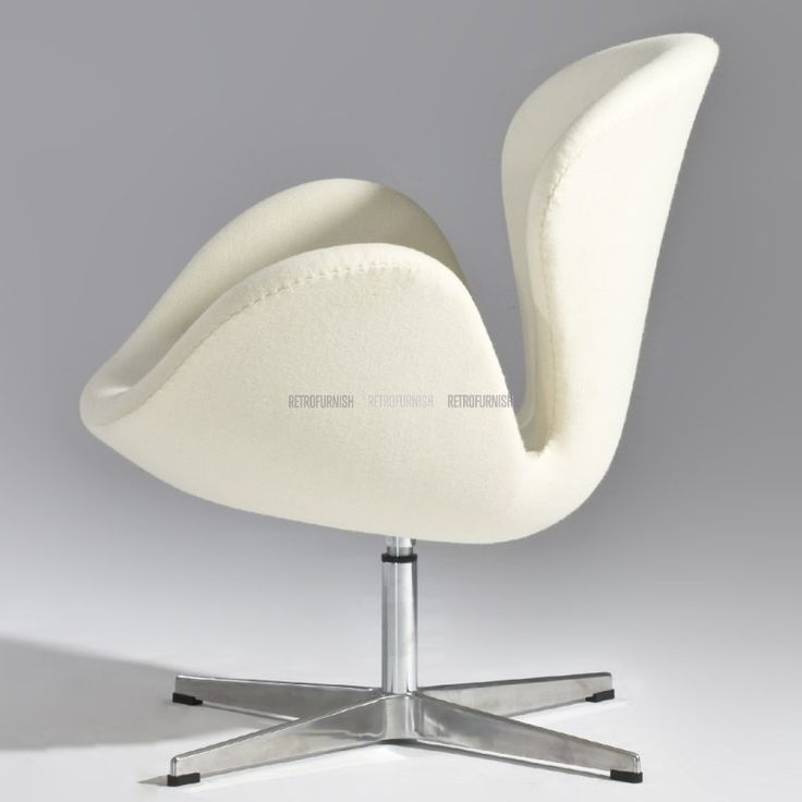 swan chair geinspireerd door arne jacobsen replica