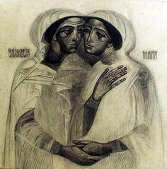 St Elizabeth & the Theotokos