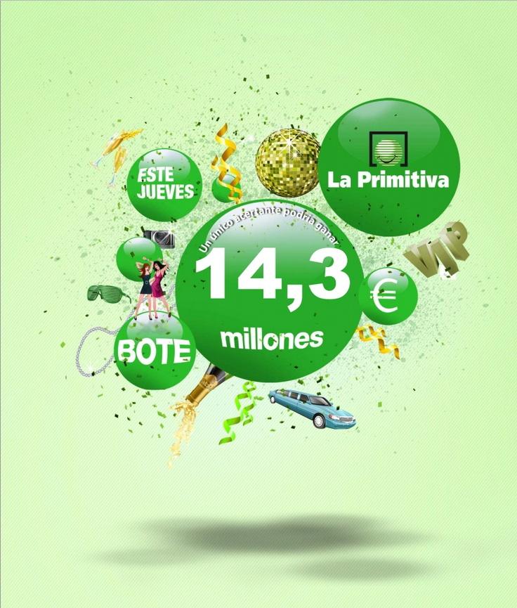 La Primitiva, Bote 14.300.000€, Jueves 05/04/2012