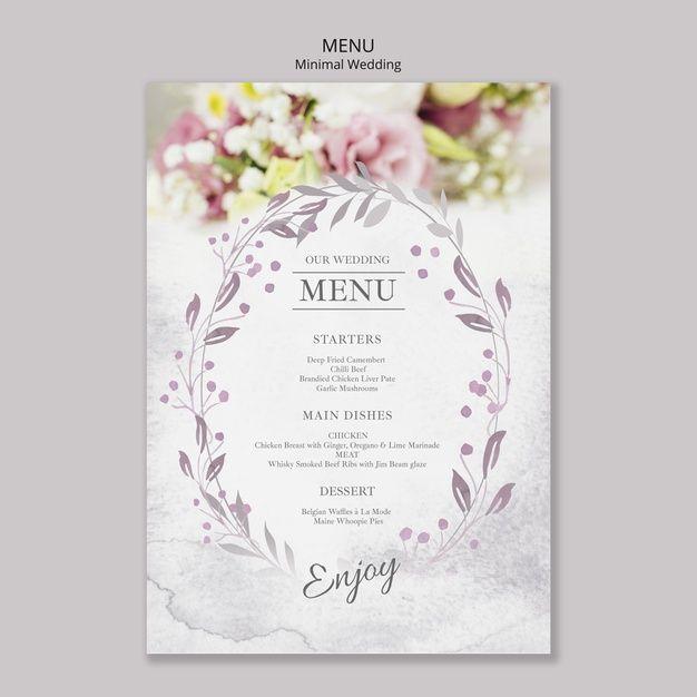 Download Floral Minimal Wedding Menu Template For Free Wedding Menu Template Wedding Menu Minimal Wedding