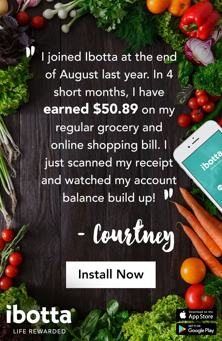 On your way to the Grocery Store? Have a fancy dinner to cook? Get Lunch for the family? Experimenting with a new healthy recipe? Start With Ibotta before all your shopping and earn real cash back at your local grocery store. Just shop like normal on your phone or in-store and watch the rewards pile up. Click now to try the app and earn up to $20 in welcome bonuses!