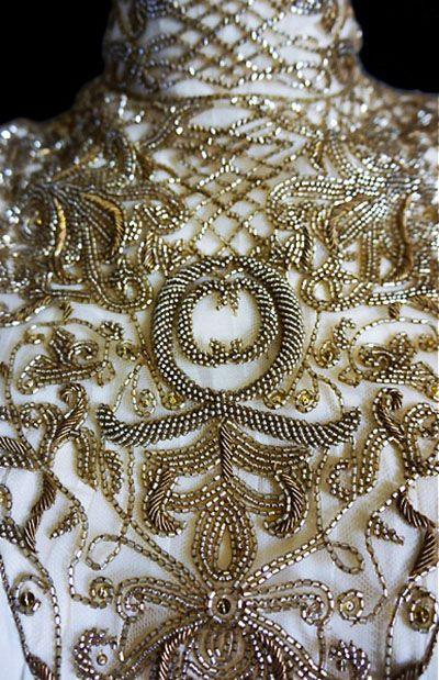 Embroidery Details...Alexander McQueen.
