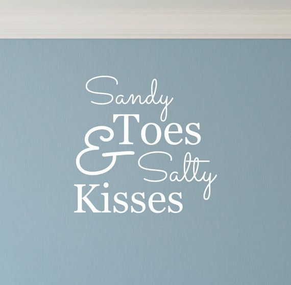 Beach sandy toes salty kisses wall decal sticker