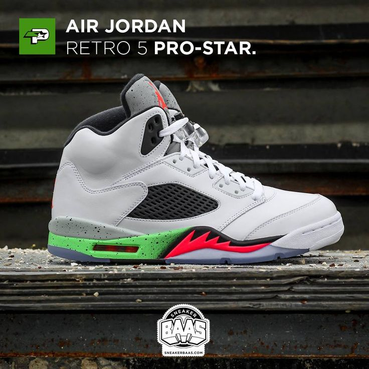 "#umpman23 #airjordan #jordan #retro5 #poison #prostar #sneakerbaas #baasbovenbaas  Air Jordan Retro 5 ""Pro-Star"" - Now Last sizes available!  For more info about your order please send an e-mail to webshop #sneakerbaas.com!"