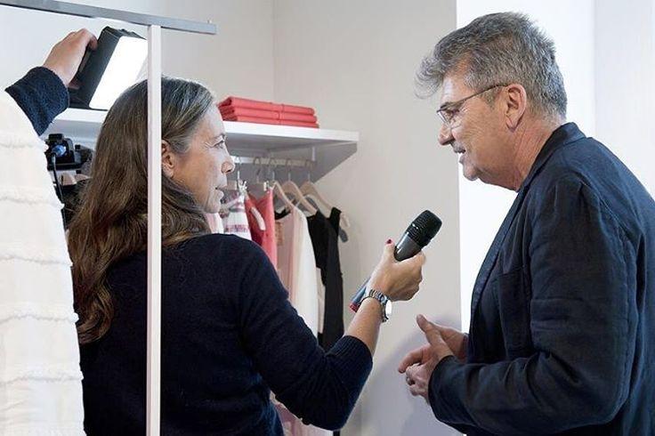 Interview new opening 120% store in Milan. CEO Alberto Peretto and Cinzia Malvini, La 7.  #120percento #120lino #newopening #news #la7 #cinziamalvini #milan #fashion #store #negozio #shopping #party #linen #design #mdw