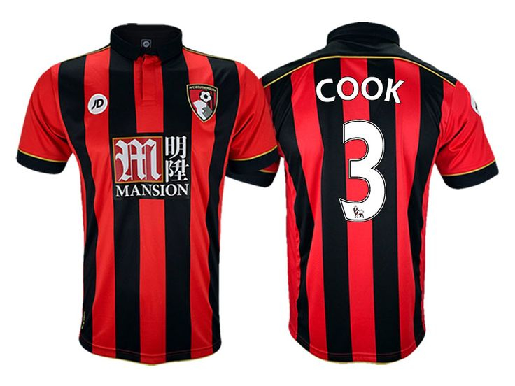 AFC Bournemouth #3 Steve Cook 2016-17 Home Jersey