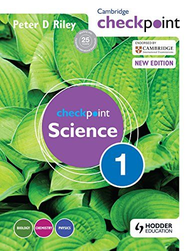 Cambridge Checkpoint Science Student's Book 1:   This widley-used and highly-respected Student's Book, for Cambridge Secondary 1 Science, is fully matched to the Curriculum Framework, Cambridge Checkpoint Tests and the Cambridge Progression Tests./pIt provides superb support for your students and will bring Science to life with full-colour diagrams and illustrations. It will also help your students demonstrate an investigative and experimental approach, with a strong emphasis on Scient...