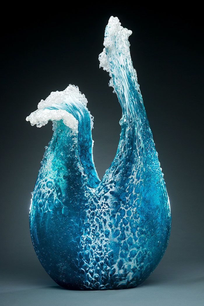 Meet Marsha Blaker and Paul DeSomma - the talented California-based husband and wife that create stunning glass and ceramic artworks. One of our favorites - their series of glass sculptures representing the ocean.