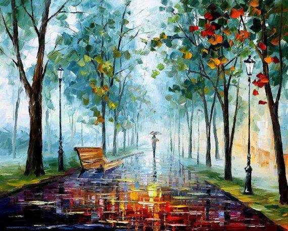 High Fall — PALETTE KNIFE Oil Painting On Canvas by AfremovArtStudio, $319.00