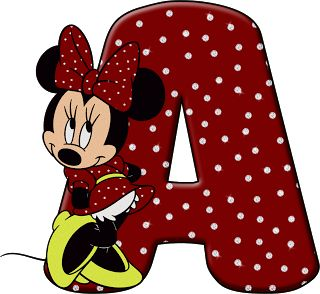 ShoppingAlfabetoDecorativo.: Alfabeto - Minnie 32 - PNG - Letras - Maiúsculas, ...