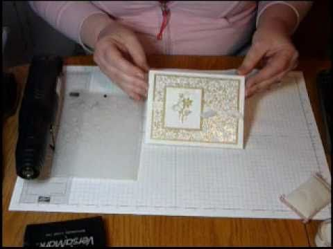 Putting glitter on with embossing folder- gotta do this one!