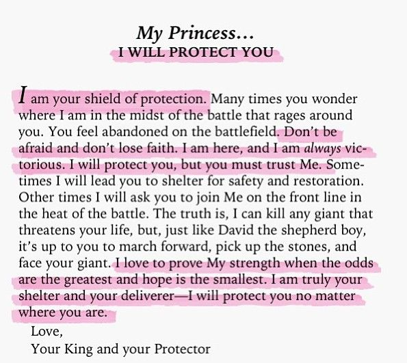 To my princesses. I have been blessed to be your earthly father. I will happily give my life for your safety and well-being. But, the Heavenly Father will always be your Strength and Shield. Seek Him during times of trouble. - Daddy