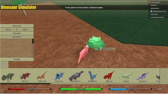 Dinosaur Simulator, a Free Game by ChickenEngineer - ROBLOX (updated 10/3/2015 11:41:25 AM)