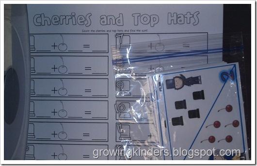 """Cherries and Top Hats"" AdditionKindergarten Math, February Classroom, Schools Ideas, February Ideas, Math Ideas, Teaching Ideas, Addition Activities, Addition Subtraction, Education Aid"