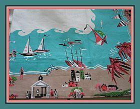 Lifes A Beach Vintage Style Tablecloth