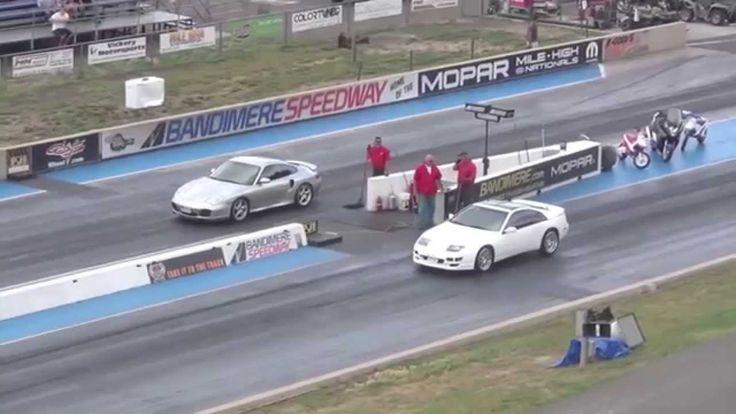 Драг Рейсинг Порше Каррера и Ниссан 300ZX Drag Race Porsche Carrera vs N...