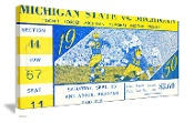 1950 Michigan State vs. Michigan Football Ticket Art. Best Michigan football ticket gifts!