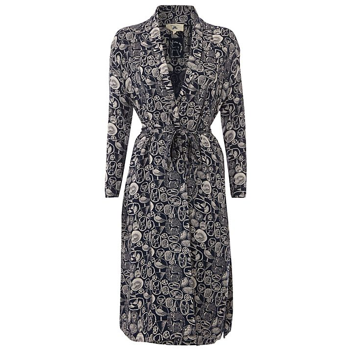 Buy White Stuff Starry Night Luxe Robe, Atlantic Blue, in medium from johnlewis.com