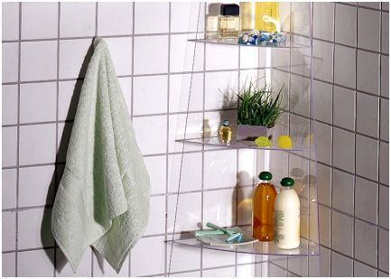 shelf for bathroom made of Plexiglas