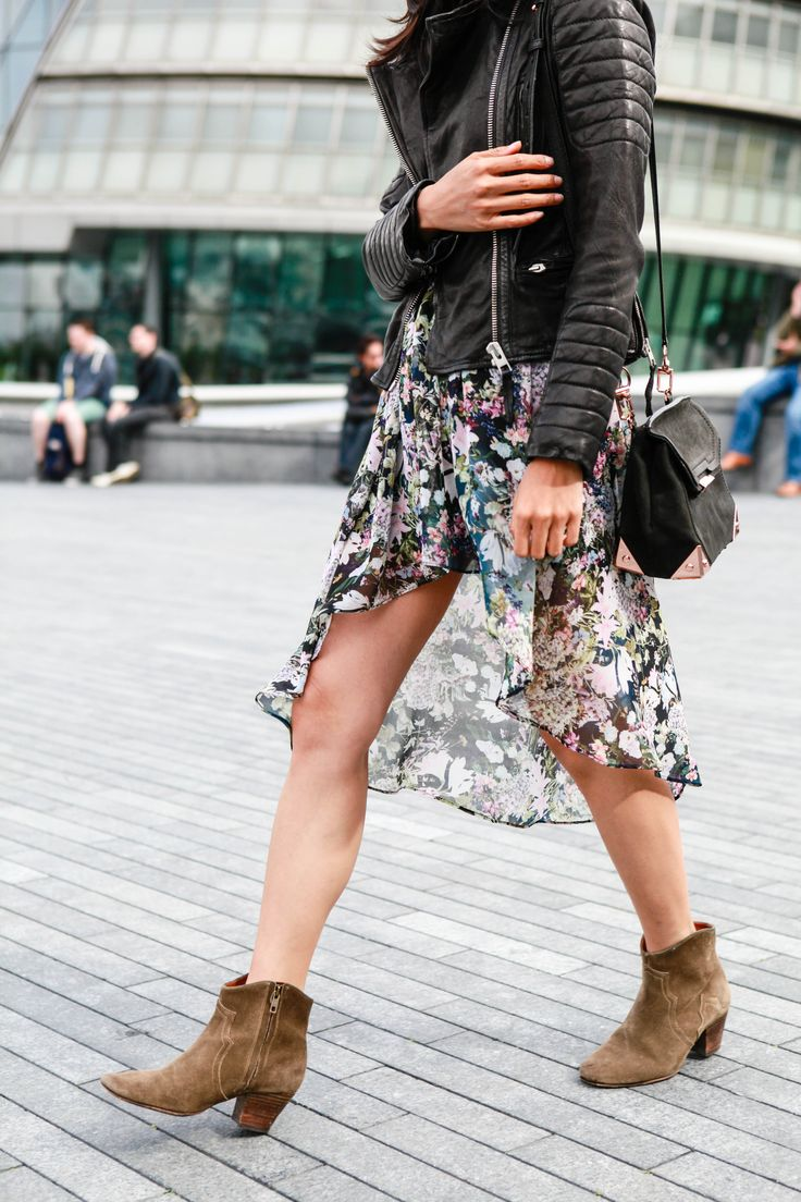 Isabel Marant Dicker boots all saints leather jacket