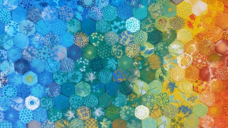 Ground Cover - Alex Hamilton  Stencilled and recycled plastic