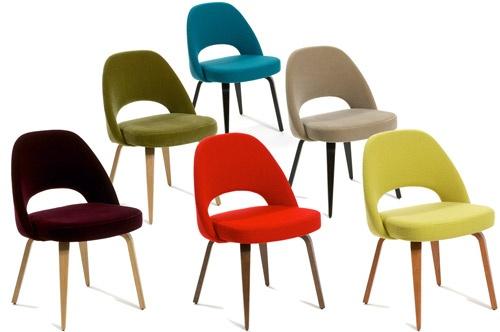 saarinen side chair - wood legs